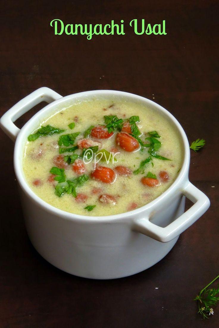 Danyachi Usal/Maharashtrian Peanut Curry