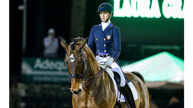 Wellington, Fla.—Jan. 26  Laura Graves and Verdades comfortably captured the FEI World Cup Grand Prix freestyle with a mesmerizing performance on her own and Curt Maes' 2016 Rio Olympic team bronze medalist, Verdades. The pair's empha...