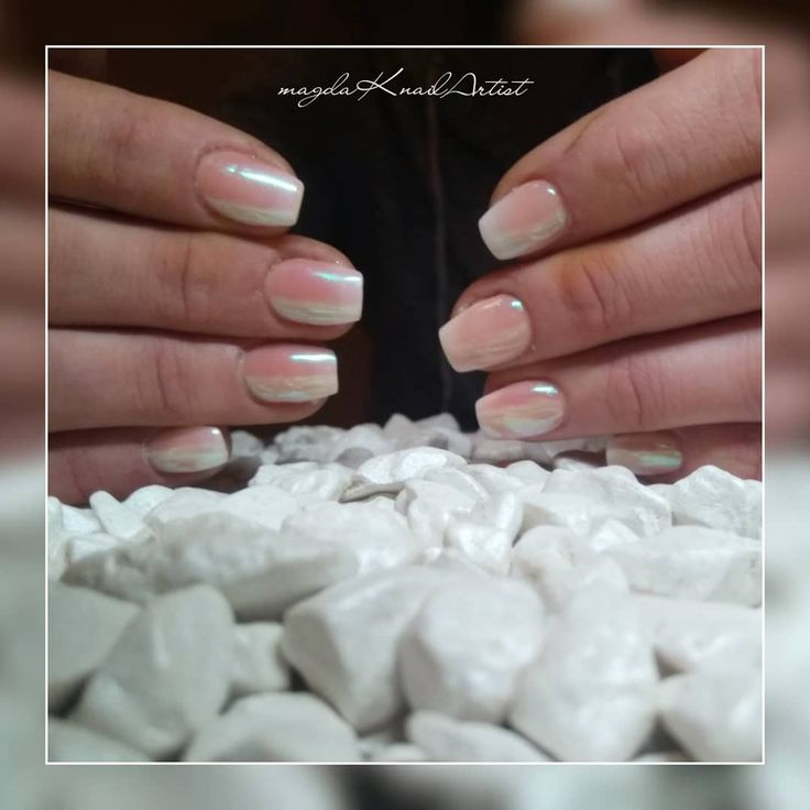 #acrylicnails #shortnails #cutenails #shellpowder #ombre #magdaKnailArtist