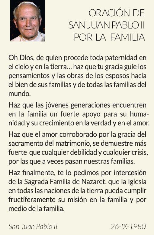 """Os proponemos una oración de san Juan Pablo II para la fiesta de la Sagrada Familia y os regalamos """"Amor humano y vida cristiana"""", un libro gratuito que podéis descargar."""
