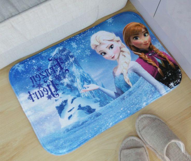 2016 Hot Snow queen Elsa Anna princess Carpet Manufacturers Selling High Quality Doormat Mat For Bathroom pet Cushion