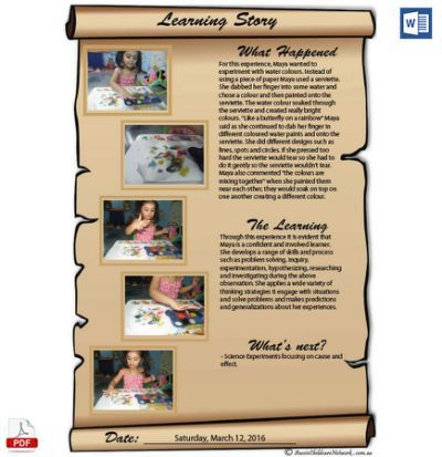 New Learning Story Scroll Template