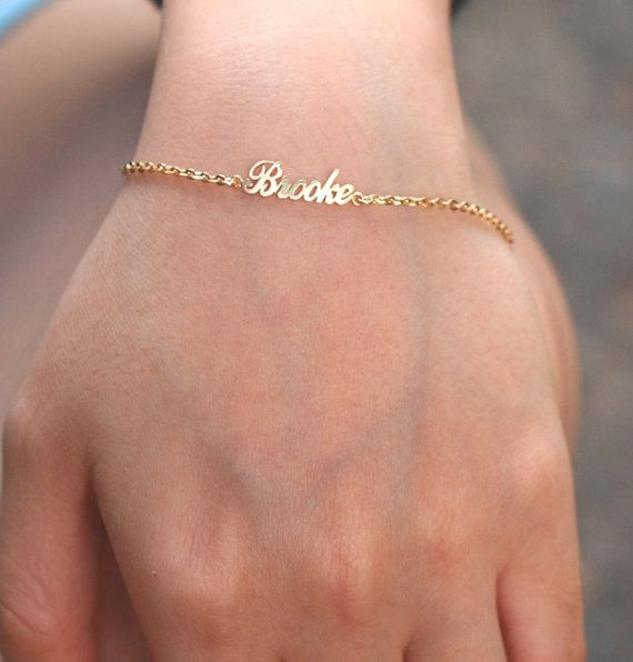 Handcrafted Personalized Name Bracelet - 18K Gold Plated ( BL04) - Etsy Bestyle shop