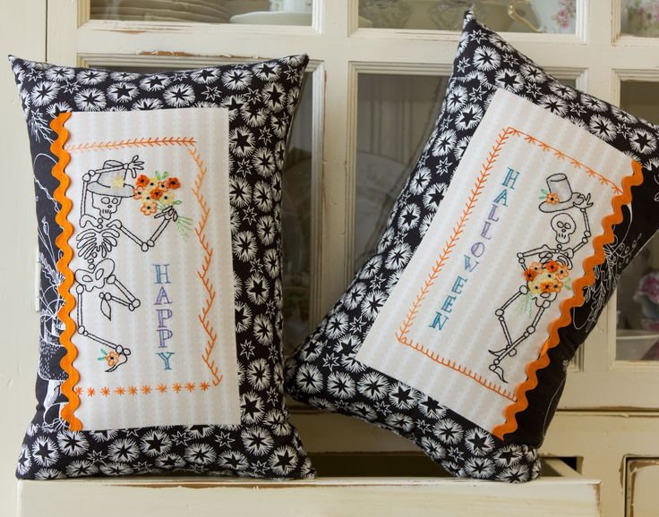 rattle roll hand embroidery pattern by crabapple hill studio - Halloween Hand Embroidery Patterns
