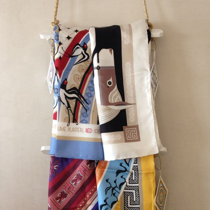 """Selection of the """"Grecian Chic"""" silk scarves at """"Under a Fig Tree Boutique""""!"""
