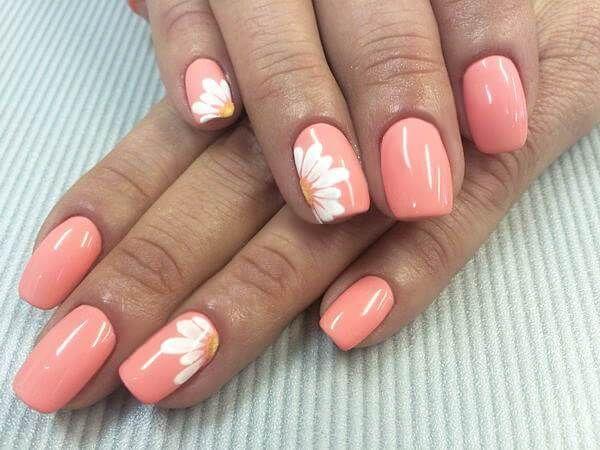 Mar 13, 2020 – elegant nail design with flowers daisies – elegant nail design with flowers daisies – #daisies #design #E…