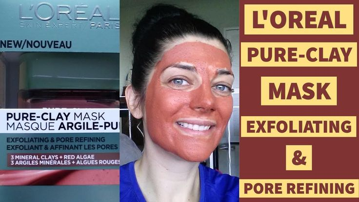 L'oreal Pure Clay Mask Exfoliating & Pore Refining | Skincare Review | Mature Dry Skin Over 40