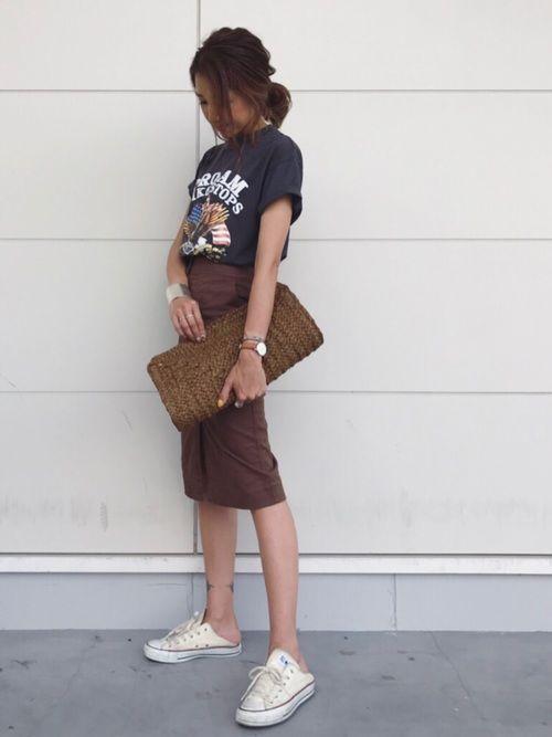 THE SHINZONEのTシャツ・カットソー「ロックTシャツ」を使ったkayoのコーディネートです。WEARはモデル・俳優・ショップスタッフなどの着こなしをチェックできるファッションコーディネートサイトです。