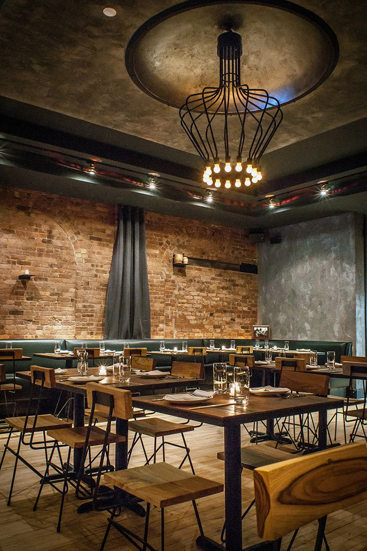 Restaurant interior design truly industrial style khe yo for New york style interior