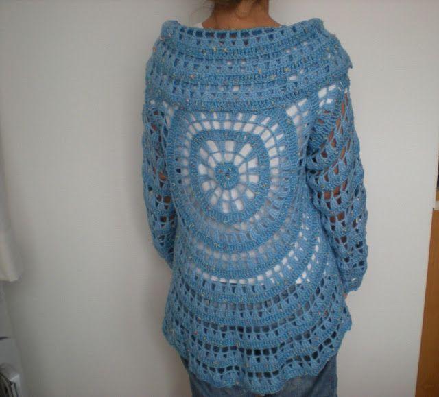 EmmHouse: Another circular cardigan – free crochet pattern