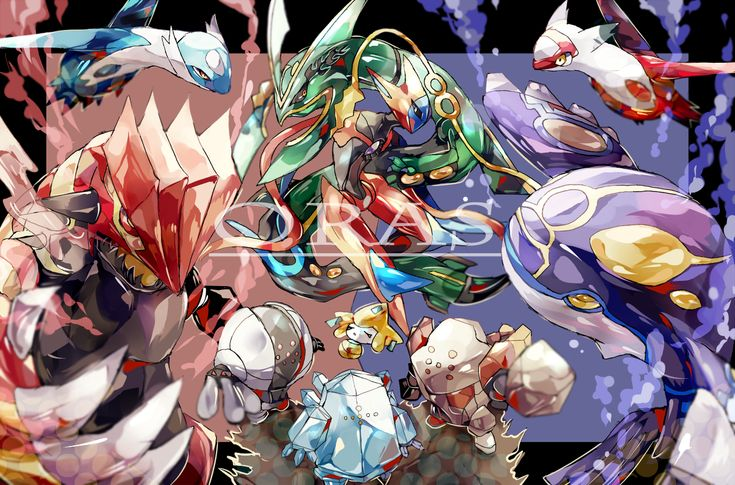 Video Game Pokemon  Rayquaza (Pokémon) Kyogre (Pokémon) Groudon (Pokémon) Wallpaper