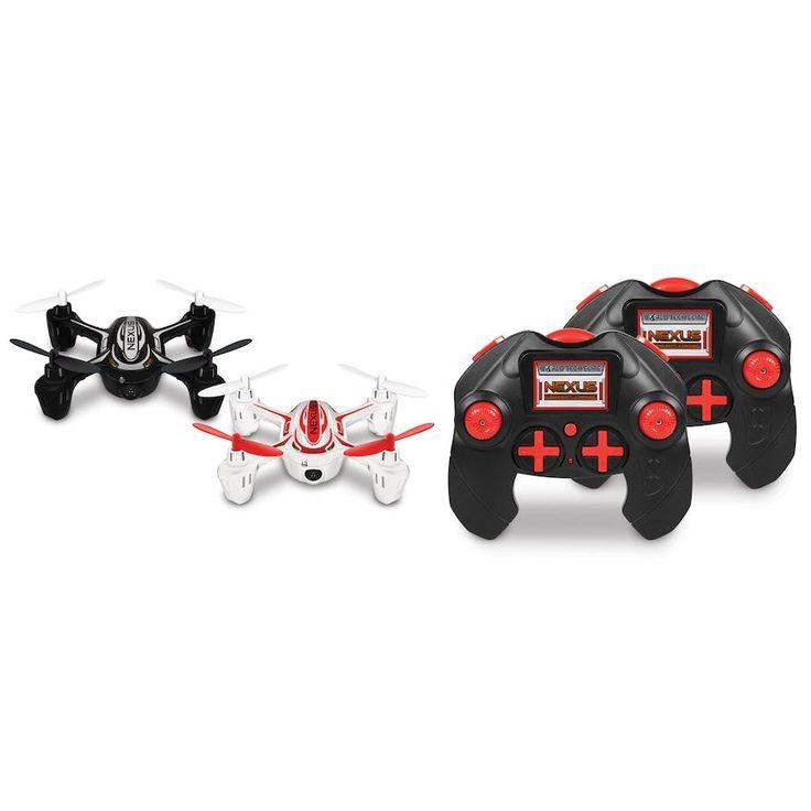 World Tech Toys Nexus Remote Control Laser Battle Drone, Black