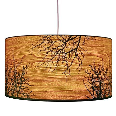 Encapsulate a charming woodland-chic look in your décor with the luminous Autumn Big Drum Pendant Light from Micky & Stevie.