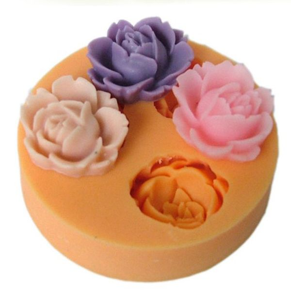 Rose flower cake mould- silicone resin cake mould