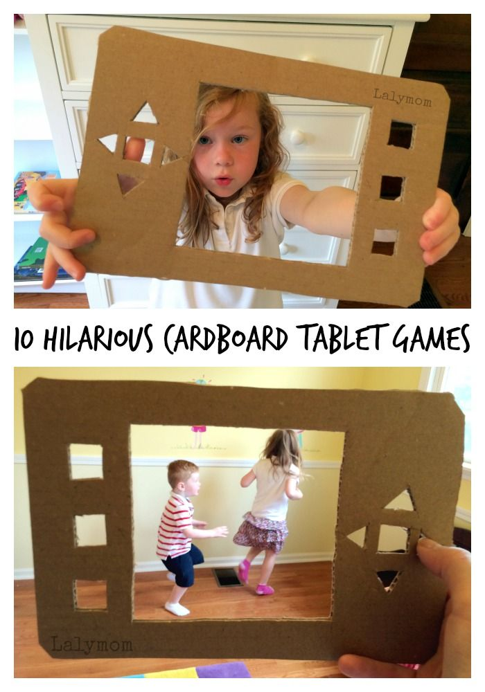 Cardboard Crafts - How to Make a Cardboard Tablet, plus 10 HILARIOUS ways to use it! Part of Craft Closet Boredom Busters Week on Lalymom