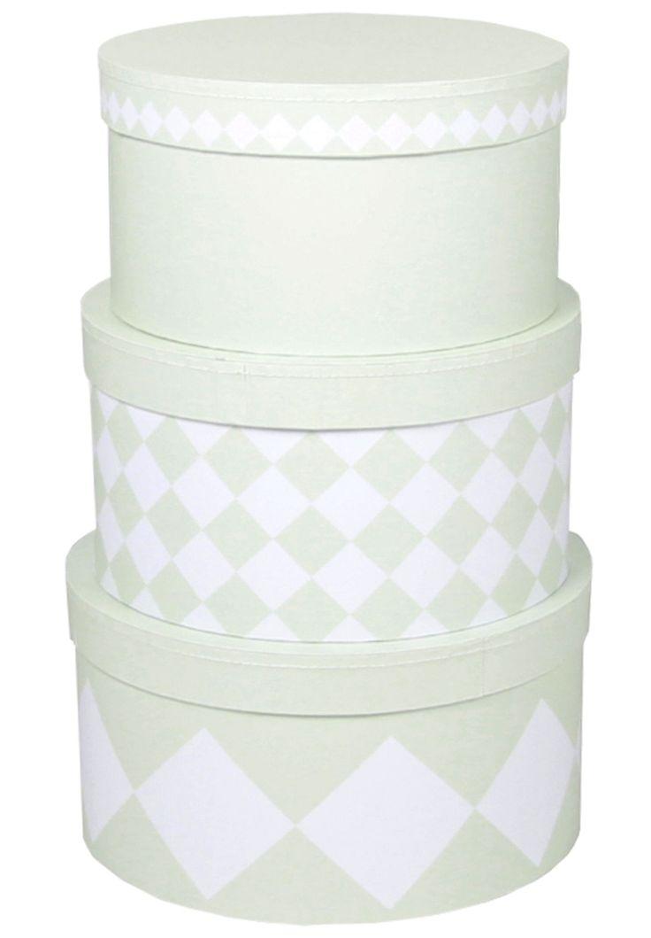 Köp Alice & Fox Pappbox Rund 3-pack Grön | Barnrummet Förvaring | Jollyroom