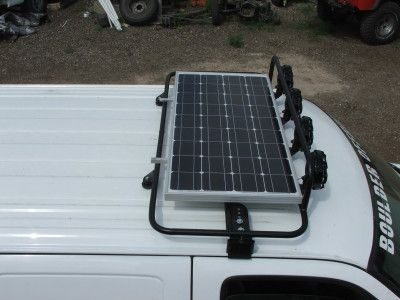 Chevy Express Solar panel roof rack with lights