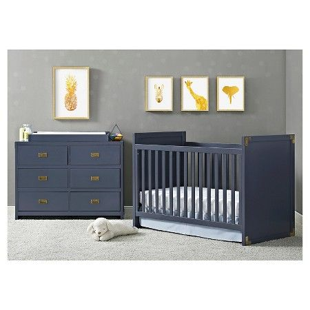 Baby Relax Miles Campaign Crib - Blue : Target