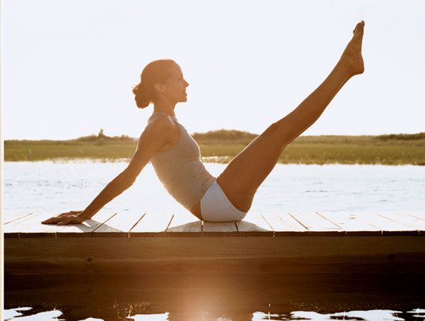 Pilates vs. Yoga. Pilates and yoga are both awesome for your body, but one isn't better than the other: It depends on which muscles you're trying to work. Pilates = primarily strengthening core, Yoga = upper body work. #SelfMagazine