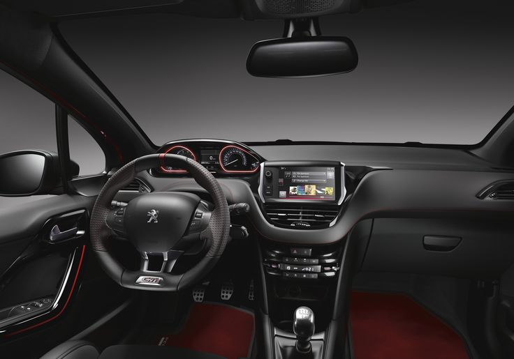#Peugeot 208 #GTI Interior - I love that steering wheel!