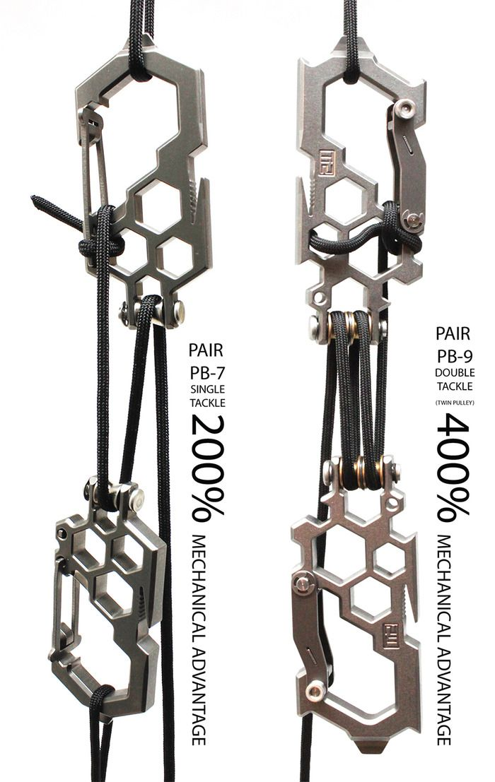 Ti2 Parabiner -- B&T setup, I'm pretty sure the one on the right is rigged up improperly, still a good concept