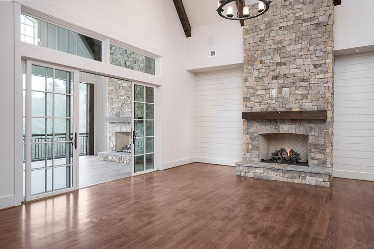 Living Room Perfection Shiplap Walls Exposed Beams