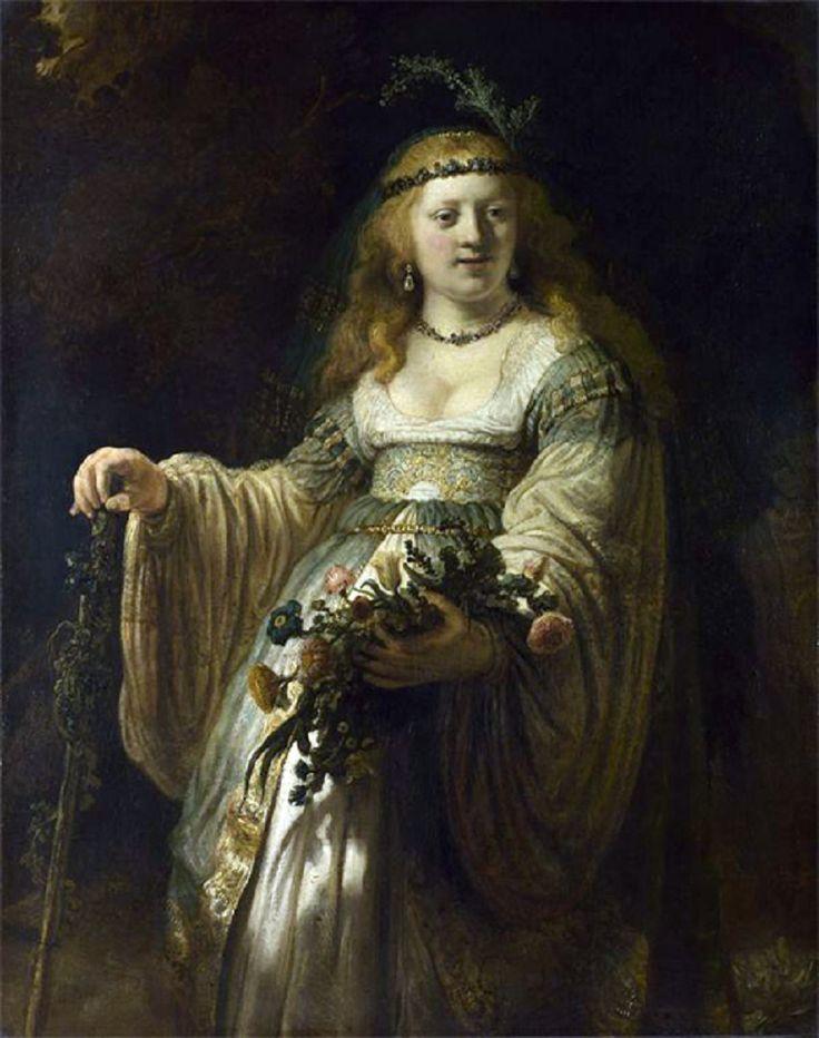 f5+Rembrandt+Harmenszoon+van+Rijn+(1606-1669)+-+Portrait+of+Saskia+as+Flora.jpg (850×1077)