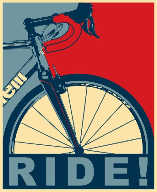 RIDE! / For more great pics, follow www.bikeengines.com #cycling #illustration