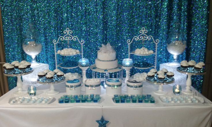 Winter Wonderland Candy Buffet Sweet 16th Birthday