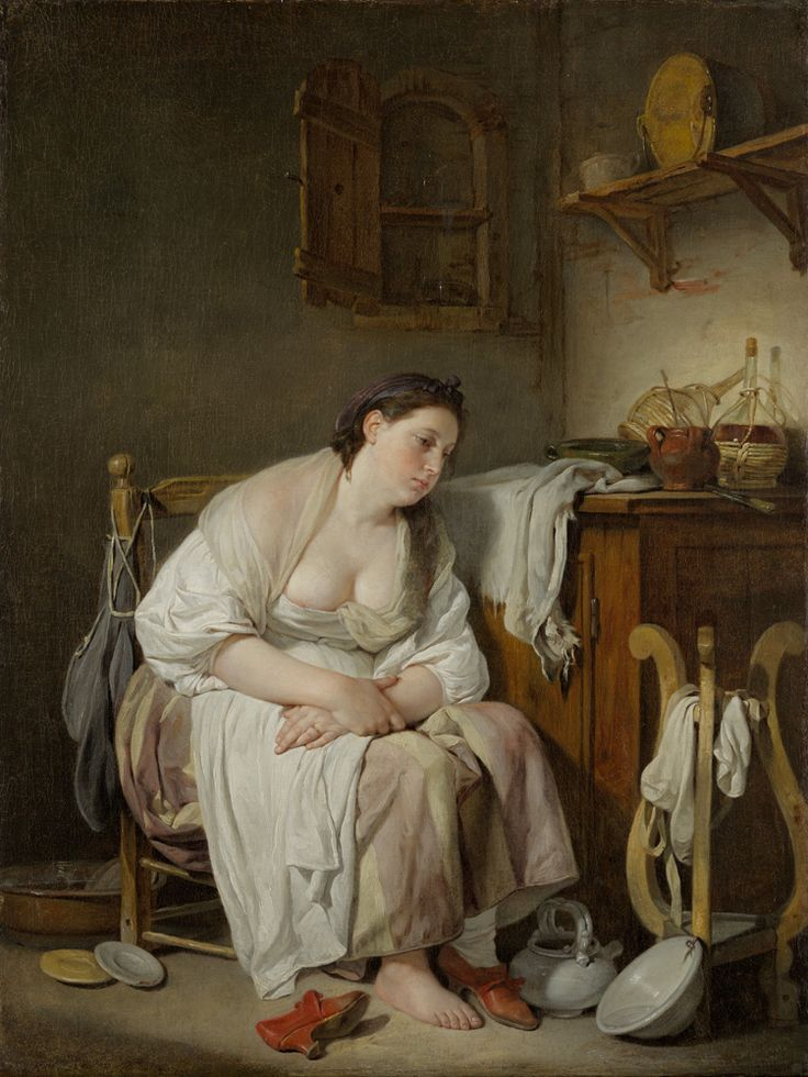 Jean-Baptiste Greuze French, 1725-1805 Indolence (La Paresseuse Italienne), 1757 Oil on canvas, 25 ½ x 19 11/16 The Ella Gallup Sumner and Mary Catlin Sumner Collection Fund, 1934.11