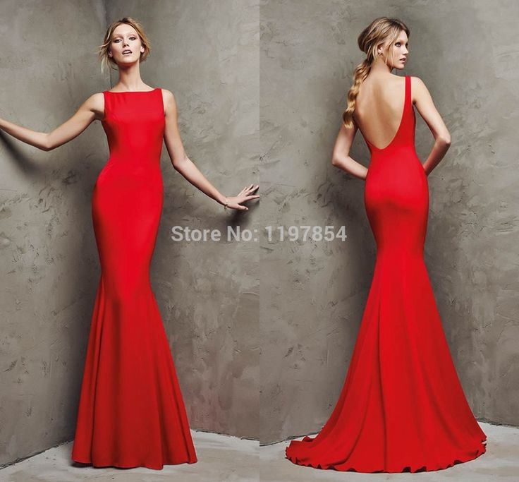 Plain red prom dresses - Prom dress style