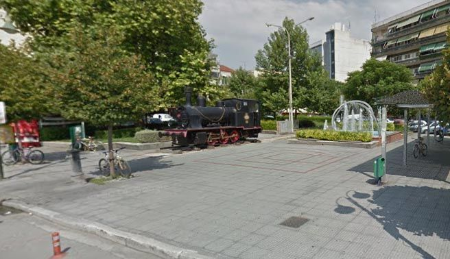 Railway Station Square - Larissa (Google streetview)