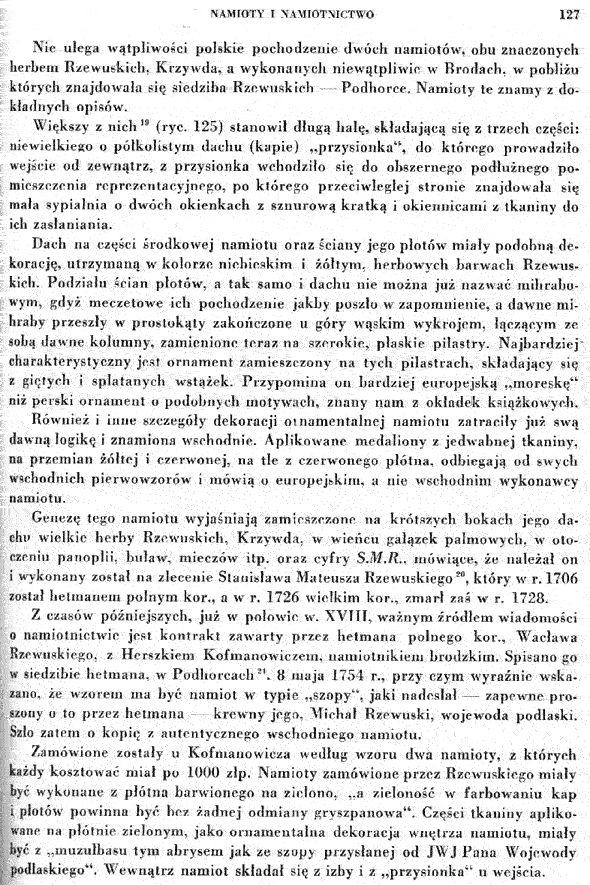 """13. Rozdział o namiotach - Z książki Tadeusza Mańkowskiego """"Polskie tkaniny i hafty XVI-XVIII wieku"""""""
