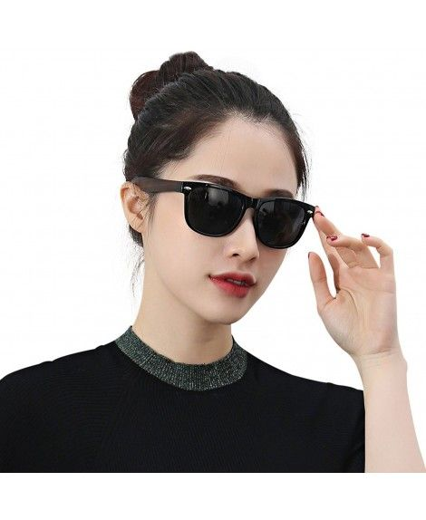 d68eed135ae Walnut Wood HD Polarized Sunglasses Oversized for Men and Women ...