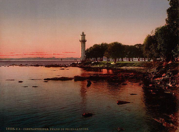 The lighthouse of Fenerbahçe, Constantinople, Turkey