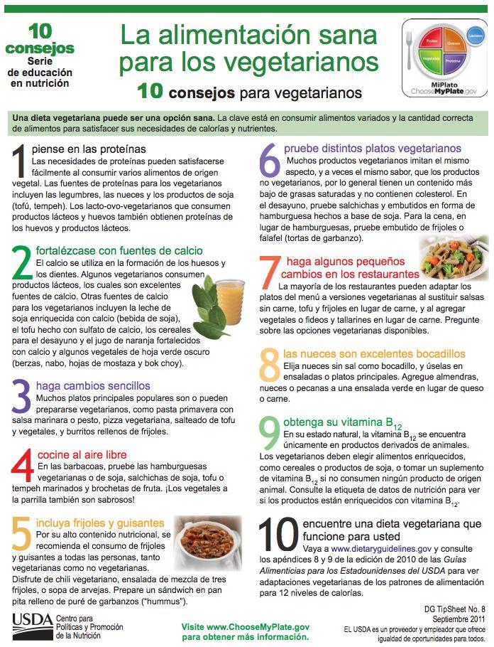 10 consejos para vegetarianos. Una dieta vegetariana puede ser una opción sana. La clave está en consumir alimentos variados y la cantidad correcta  de alimentos para satisfacer sus necesidades de calorías y nutrientes.