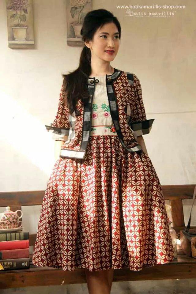 Batik amarillis dress kawung