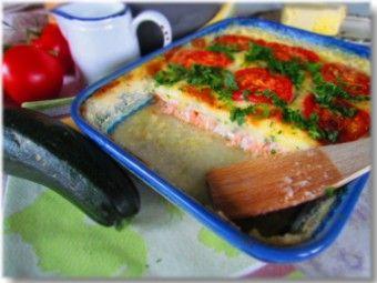Zucchini Salmon Bake