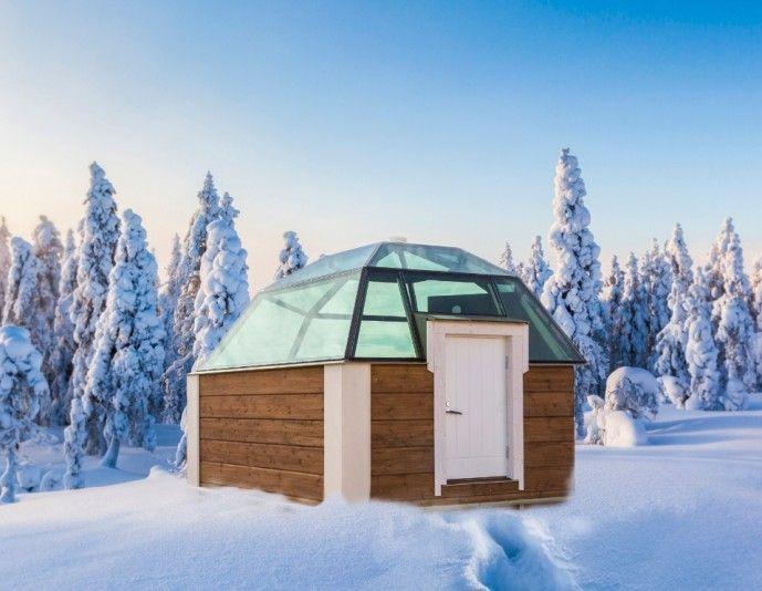 Finlandiya'daki The Arctic SnowHotel'in eskimo evi gibi tasarlanmış odalarının tavanları Kuzey Işıkları'nı seyredebilmek için camdanmış...