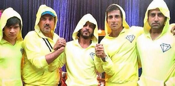 """As our director #FarahKhan rightly puts it """"The very macho boys of #HNY.. even in lemon jackets"""""""