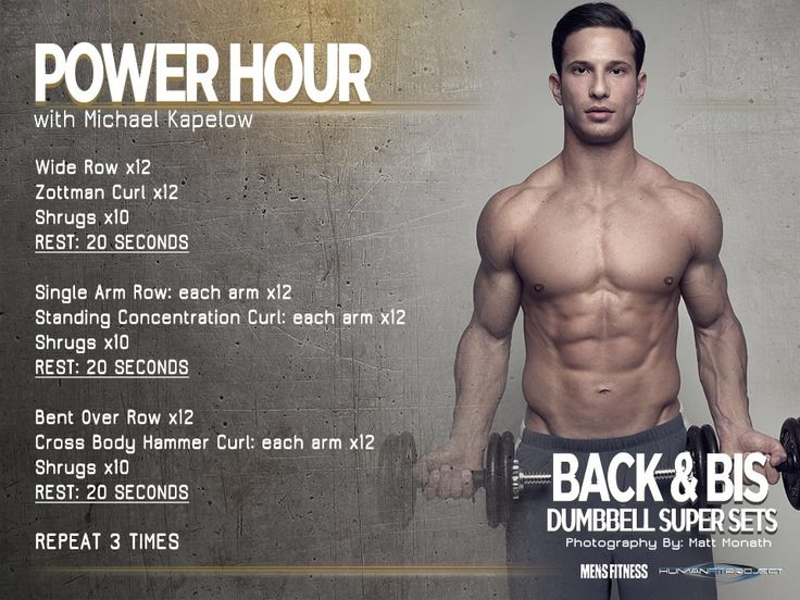 Power Hour Workouts For Building The Perfect Body Effective Workout Plan Advanced Workout Back And Biceps