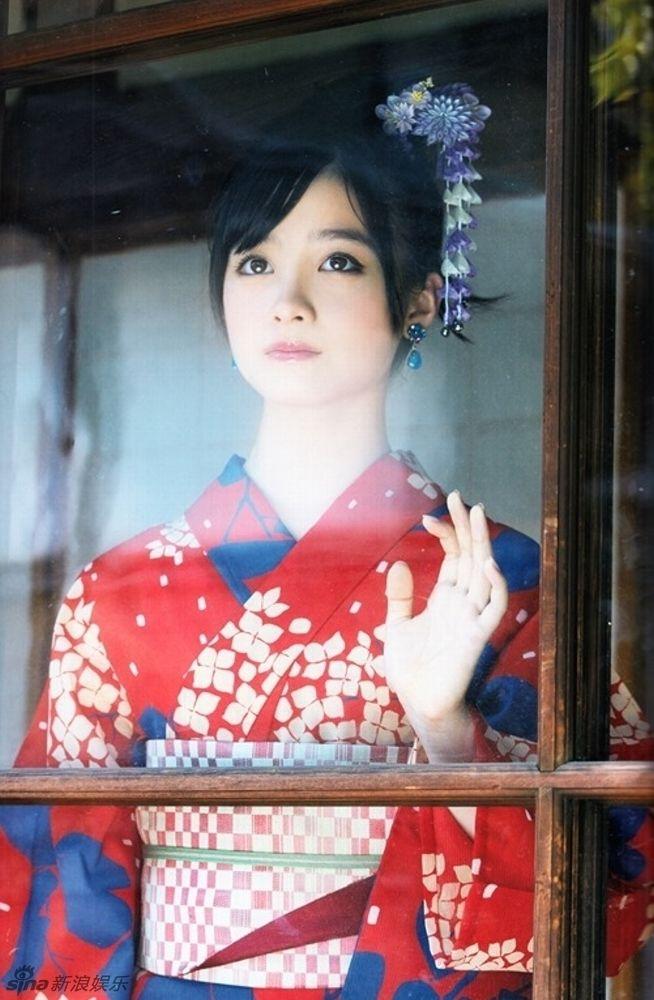"""日本""""千年美少女""""桥本环奈和服写真美艳 - 开心网转帖 - 开心网"""