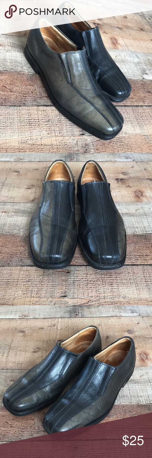 Sandro Moscoloni Vineyard Slip-Ons Used dress shoes Good condition Some wear down on inside leather as seen in photos Atomic Gel Flexibility Design & Technology Made in Brazil - stamped in leather Sandro Moscoloni Shoes Loafers & Slip-Ons