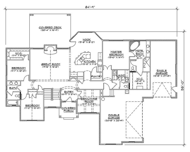 Rambler house plans with basements professional house for Rambler house designs