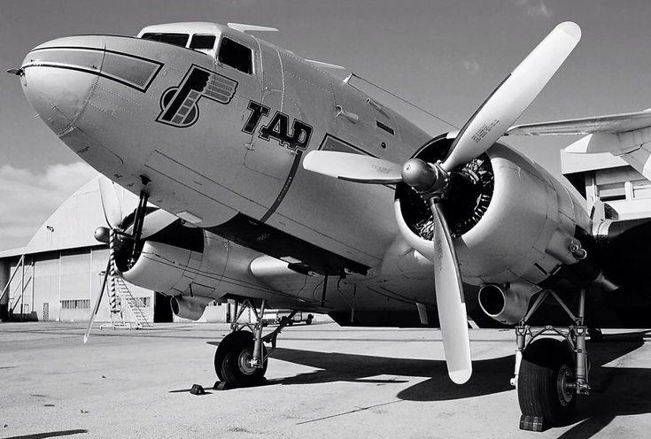 TAP, Portugal, celebrates her 70th birthday in 2015! It all began with a Douglas DC-3. - via PJ de Jong