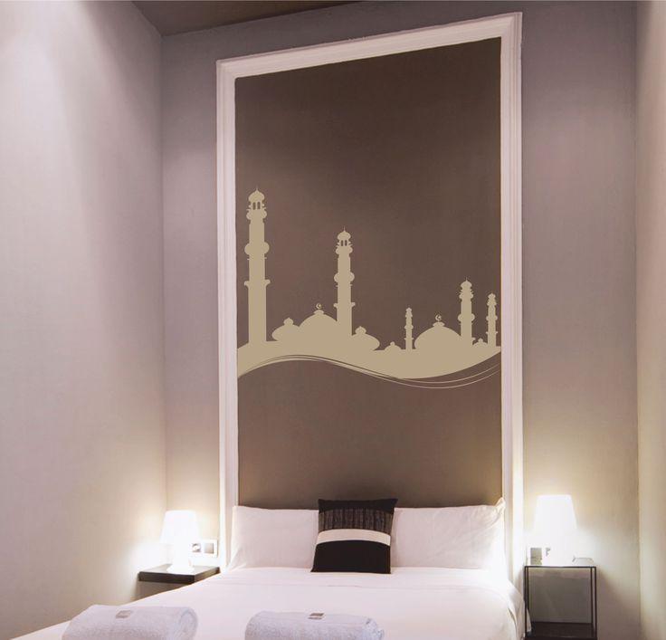 Vinilo decorativo de un skyline de minaretes islámicos.