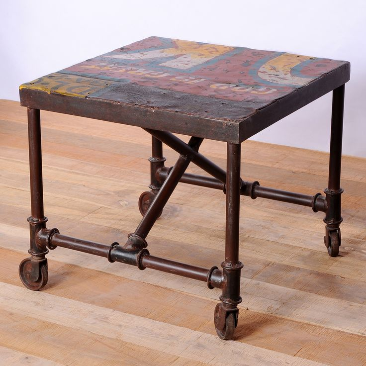 Iron Freight Truck Side Table (India) | Overstock™ Shopping - Top Rated Coffee, Sofa & End Tables