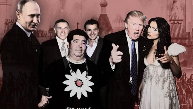 "Book: Trump met with Russians at raunchy party Excerpts from ""Russian Roulette"" describe a meeting between Donald Trump and two key figures in the Mueller probe at a nightclub known for extremely graphic sexual shows. Joined by Miss Universe »"