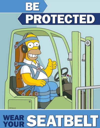 toyota equipment on homer simpson and safety