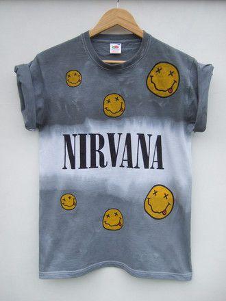 tie dye nirvana grunge nirvana t shirt grey band t-shirt t-shirt nirvana t-shirt tie dye shirt tie dye nirvana shirt